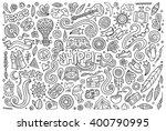line art vector hand drawn... | Shutterstock .eps vector #400790995