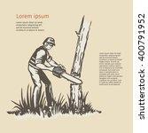 Illustration Of A Tree Surgeon...