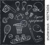 sport doodles elements... | Shutterstock .eps vector #400792606