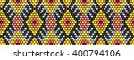 trendy  modern ethnic  beaded ... | Shutterstock .eps vector #400794106