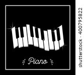 Piano Keys In A Frame On A...