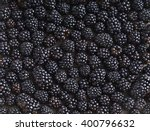 Blackberries Background. Close...