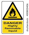 danger highly flammable liquid... | Shutterstock . vector #400803406