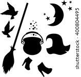 halloween silhouette set...   Shutterstock .eps vector #400804495