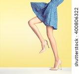 woman long legs in fashion...   Shutterstock . vector #400806322