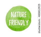 nature friendly card  poster ... | Shutterstock .eps vector #400812925