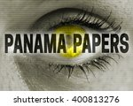 panama papers eye looks at... | Shutterstock . vector #400813276
