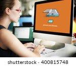 ebook reading digital learning...   Shutterstock . vector #400815748
