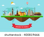 travel and tourism background... | Shutterstock .eps vector #400819666