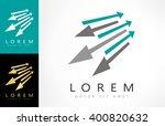 arrows vector logo   Shutterstock .eps vector #400820632