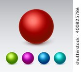 3d Spheres Icons Set Collectio...