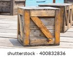 Wooden Box And Empty Space