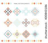 set of vector tribal elements.... | Shutterstock .eps vector #400843186