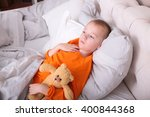 little boy has strong sore... | Shutterstock . vector #400844368
