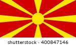 stock vector flag of macedonia  ... | Shutterstock .eps vector #400847146