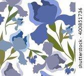 seamless pattern with iris... | Shutterstock .eps vector #400851736