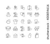 vector charity and donation set.... | Shutterstock .eps vector #400854616