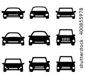 cars and automobiles icon set | Shutterstock .eps vector #400855978