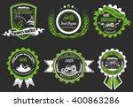 vector retro set of farm fresh... | Shutterstock .eps vector #400863286