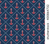 seamless sea pattern. nautical... | Shutterstock .eps vector #400864732