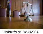decorative scales of justice on ... | Shutterstock . vector #400865416