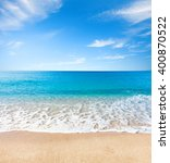 beach and tropical sea | Shutterstock . vector #400870522