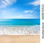 beach and tropical sea | Shutterstock . vector #400870522
