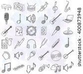 hand drawn musical instruments... | Shutterstock .eps vector #400873948