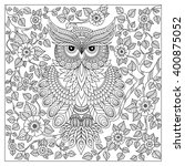 coloring book for adult and... | Shutterstock .eps vector #400875052