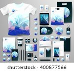 abstract  business set in... | Shutterstock .eps vector #400877566