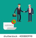businessman handshake on... | Shutterstock .eps vector #400880998
