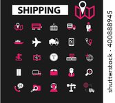 shipping icons    Shutterstock .eps vector #400888945