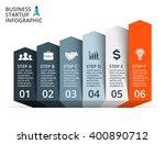 vector arrows infographic ... | Shutterstock .eps vector #400890712