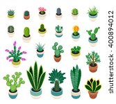 Big Set Of Cactuses And...