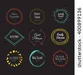 hipster logo template... | Shutterstock .eps vector #400899136