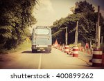 old bus running on road | Shutterstock . vector #400899262