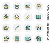 email icons. contour lines with ...   Shutterstock .eps vector #400907602