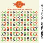 156 premium universal icon set... | Shutterstock .eps vector #400912618
