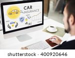 car insurance policies safety... | Shutterstock . vector #400920646