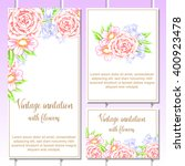 romantic invitation. wedding ... | Shutterstock . vector #400923478