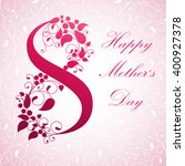 mother's day. vector... | Shutterstock .eps vector #400927378
