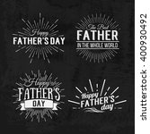 happy father's day calligraphic ... | Shutterstock .eps vector #400930492