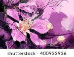 Painted Purple Flowers...