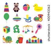 vector illustration of baby's... | Shutterstock . vector #400943362