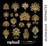 vector illustration of golden... | Shutterstock .eps vector #400946755