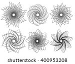 set of 6 spirally  rotating... | Shutterstock .eps vector #400953208