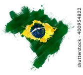grunge map of brazil with... | Shutterstock . vector #400954822