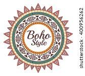 boho style design    Shutterstock .eps vector #400956262