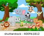 wild animal playing in a... | Shutterstock .eps vector #400961812