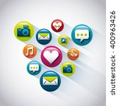 applications set design  | Shutterstock .eps vector #400963426